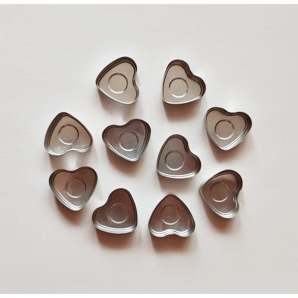 Szív alakú aluminium teamécses (10 db)