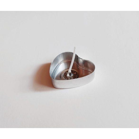 Szív alakú aluminium teamécses (25 db)