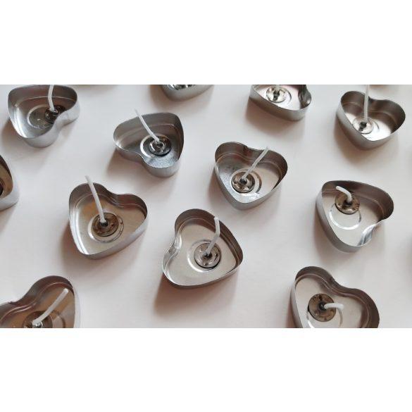 Szív alakú aluminium teamécses (50 db)