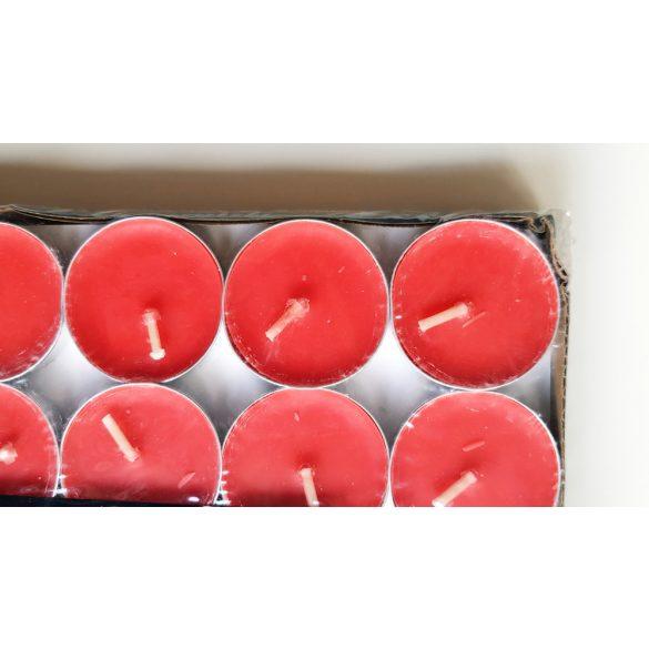 50 db piros kerek teamécses