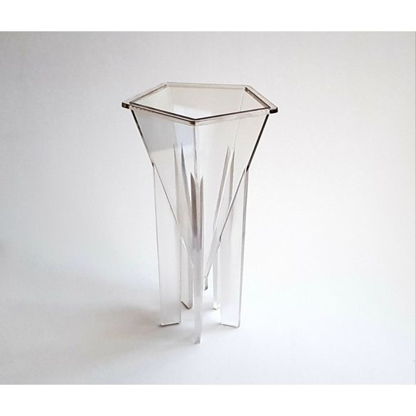 Műanyag ötszög-piramis gyertyaöntő forma