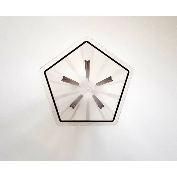 Ötszög-piramis gyertyaöntő forma