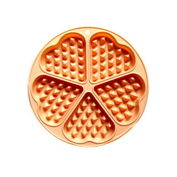 Szív alakú szilikon gofrisütő forma