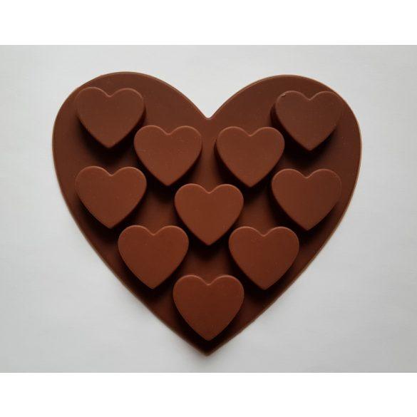 Szív alakú sütisütő forma