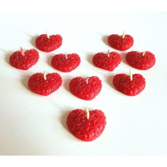 Mini szív kívánsággyertya (1 kívánsághoz)
