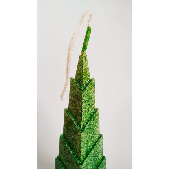 Sagoljus fenyőfa gyertya (zöld)
