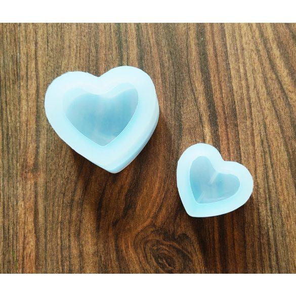 Szív alakú szilikonforma (kicsi)