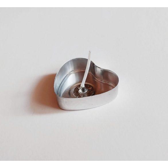 Szív alakú aluminium teamécses (1 db)