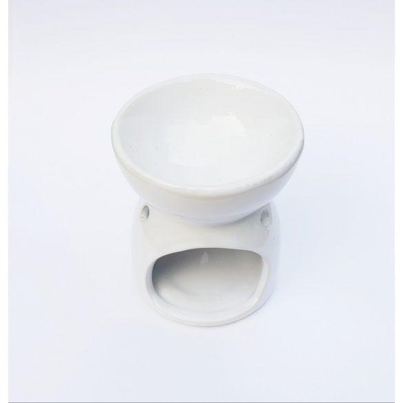 Mécses és illóolaj tartó (fehér)